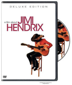 Jimi Hendrix playing a Zemaitis 12 string on the cover of the new A Film About Jimi Hendrix DVD