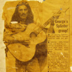George Harrison with Zemaitis 12-string at the launch of Dark Horse Records & signing Splinter