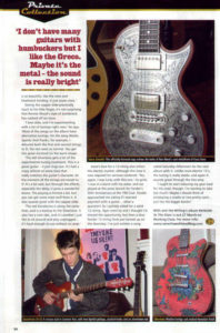 Ronnie Wood's son Jesse playing a Zemaitis International guitar