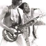 Mick Jagger & Keith Richards with his custom-made Zemaitis Guitar