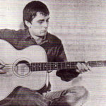 Mike Oldfield with his Zemaitis acoustic bass