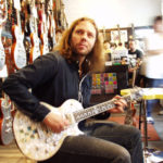 Rich Robinson trying out a New Zemaitis
