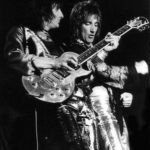 Rod Stewart & Ron Wood with Zemaitis Guitar