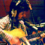 Ronnie Lane in the Studio Playing Zemaitis Acoustic Guitar
