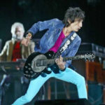 Ronnie Wood with Zemaitis Disc Front Guitar