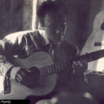 Tony Zemaitis aged 22 or 23 playing a 12 String Zemaitis Acoustic Guitar