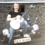 Tony McPhee of the Groundhogs with the very first Zemaitis Metal Front guitar