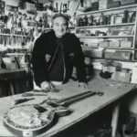 Tony Zemaitis in his Chatham Workshop December 1992