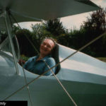 Tony Zemaitis in the plane he built himself - 1980's